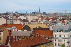 Panorama of the Vienna, Austria. Royalty Free Stock Image