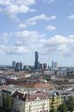Panorama of Vienna stock images