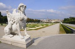 Panorama of Vienna from Belvedere Palace Royalty Free Stock Image