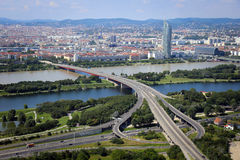 Panorama of Vienna City in Summer. Royalty Free Stock Image