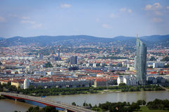 Panorama of Vienna City in Summer. Royalty Free Stock Photos
