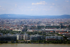 Panorama of Vienna City in Summer. Stock Photography