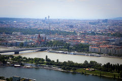 Panorama of Vienna City in Summer. Stock Image