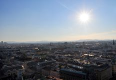Panorama of Vienna from St. Stephens Cathedral Royalty Free Stock Images