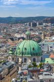Panorama of Vienna from St. Stephen's Cathedral Stock Photo
