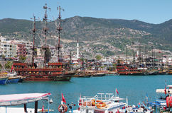 Panorama view of Alanya, Turkey Royalty Free Stock Images