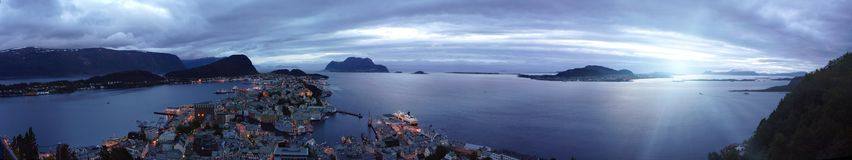 Panorama view of the Alesund Royalty Free Stock Images