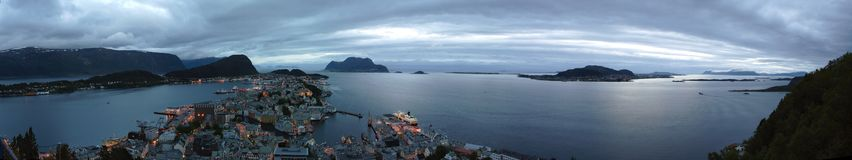 Panorama view of the Alesund Stock Photos