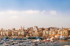 Panorama view of Alexandria, Egypt. Royalty Free Stock Photo