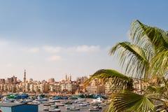 Panorama view of Alexandria, Egypt. Royalty Free Stock Photos