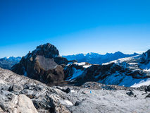 Panorama view of the Alps Stock Photography