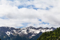 Panorama view of the Alps in Ticino Stock Image