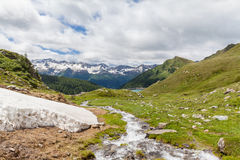 Panorama view of the Alps in Ticino Stock Photos