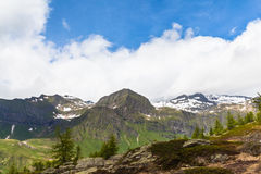 Panorama view of the Alps in Ticino Royalty Free Stock Image