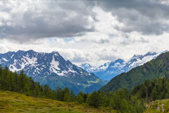 Panorama view of the Alps in Ticino Stock Images