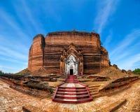 Panorama view of ancient Pa Hto Taw Gyi Pagoda ruins at Mingun c Stock Images