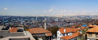 Panorama view of Ankara at spring of 2017 royalty free stock photo