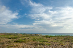Panorama view with the Arashi Beach as background Royalty Free Stock Photo
