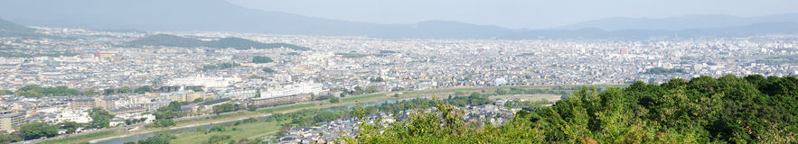 Panorama view of Arashiyama Stock Photo