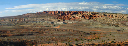 Panorama View Arches NP Royalty Free Stock Photo