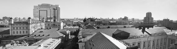 Panorama - a view of the architectural center of the city of Kiev - Ukraine Royalty Free Stock Image
