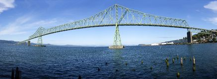 A panorama view of the Astoria bridge. Royalty Free Stock Photo