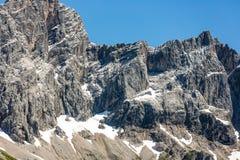 Panorama view Austrian Dachstein mountains Royalty Free Stock Photos