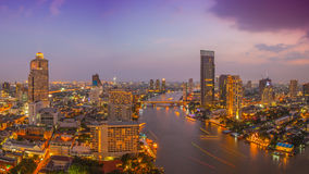 Panorama view of Bangkok city Royalty Free Stock Image