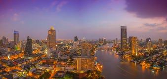 Panorama view of Bangkok city Stock Image