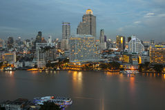 Panorama view of Bangkok city Stock Images