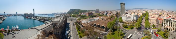 Panorama view of Barcelona Stock Photography