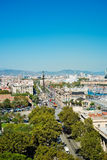 Panorama view of Barcelona Royalty Free Stock Photos