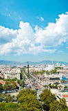 Panorama view of Barcelona Royalty Free Stock Images