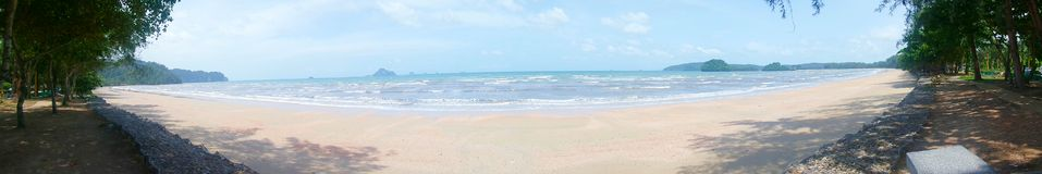 Panorama view of beach Royalty Free Stock Photography