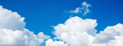 Panorama view of beautiful Nature white cloud scape stock photography