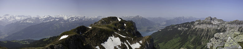 Panorama View of Bernese Alps Stock Image