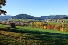 Panorama view of Black Forest Royalty Free Stock Photography