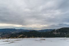 Panorama view of the black forrest in germany stock image