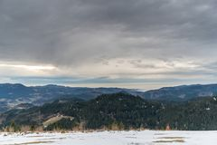 Panorama view of the black forrest in germany Stock Photo