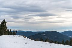 Panorama view of the black forrest in germany Royalty Free Stock Photography