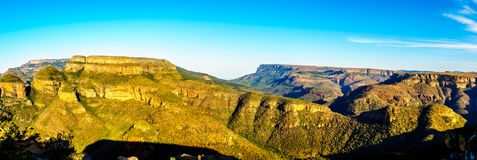 Panorama View of the Blyde River Canyon along the Panorama Route in Mpumalanga Province. Of South Africa stock photos