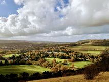 A panorama view from Box Hill royalty free stock image