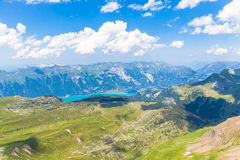 Panorama view of Brienz Lake and Alps Royalty Free Stock Images