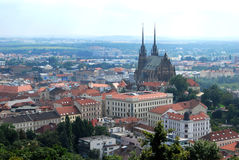 Panorama View of Brno royalty free stock photo