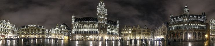 Panorama View of Brussels, Belgium. Cityscape of central Brussels, Belgium Royalty Free Stock Photography