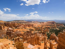 Panorama View of Bryce Canyon National Park. Wide angle panorama view of Bryce Canyon National Park, Utah Royalty Free Stock Photography