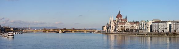 Panorama view of the Budapest Royalty Free Stock Image