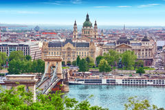 Panorama View on Budapest city . Royalty Free Stock Image