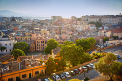 Panorama view of Cagliari, Sardinia, Italy, Europe Stock Photos