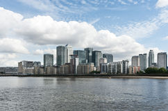 Panorama view of Canary Wharf district Royalty Free Stock Image